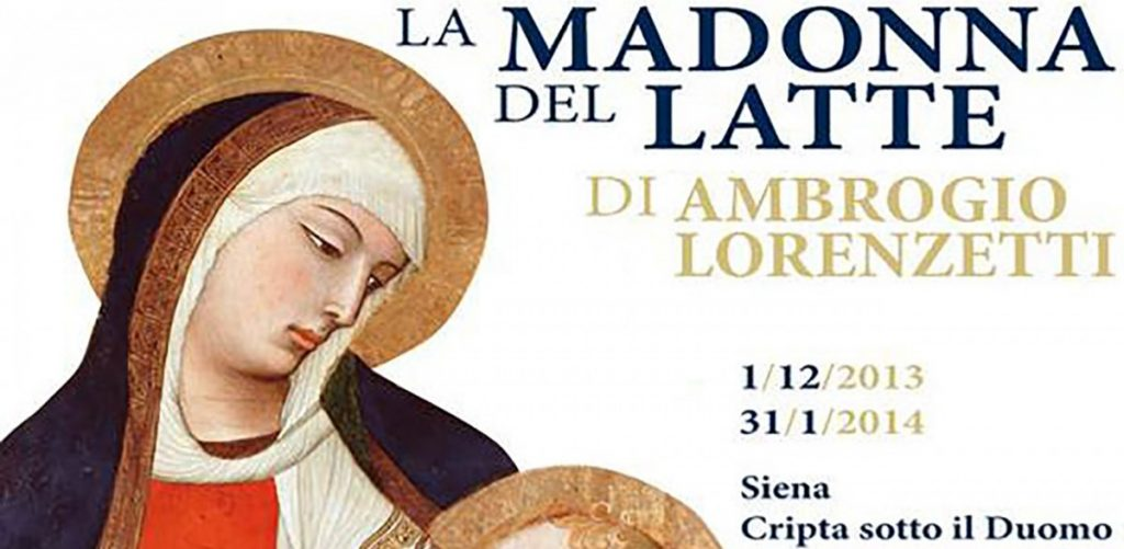 The Duomo of Siena hosts La Madonna del Latte by Ambrogio Lorenzetti