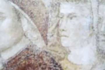 Dante and Giotto in the Podestà Chapel at the Bargello
