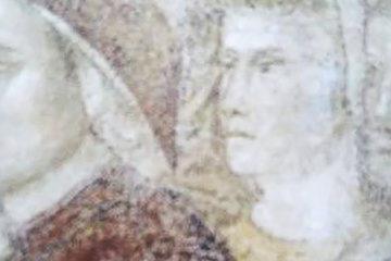 Dante and Giotto in the Podestà Chapel at the Bargello