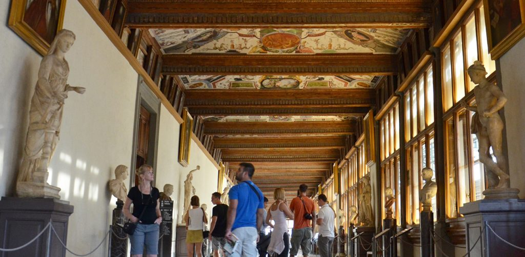 The Uffizi Gallery entrance ticket