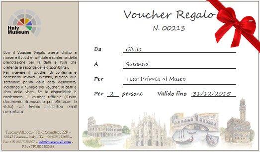 Voucher regalo musei e visite guidate for Coupon soggiorno roma