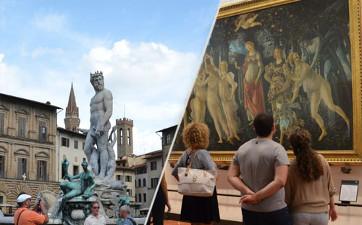 Giro città a piedi e Galleria degli Uffizi