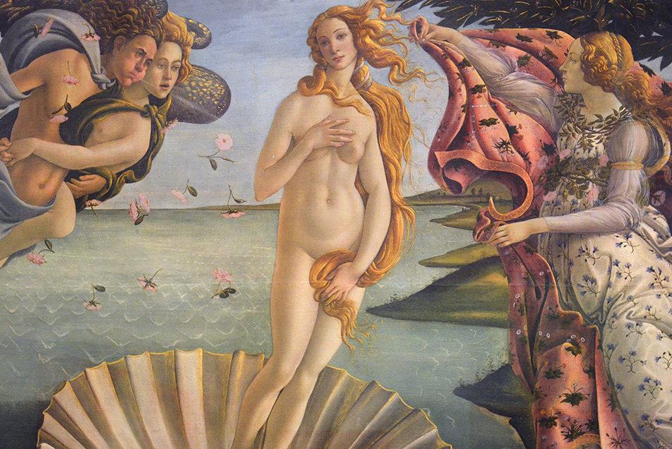 La Nascita di Venere di Botticelli alla Galleria degli Uffizi